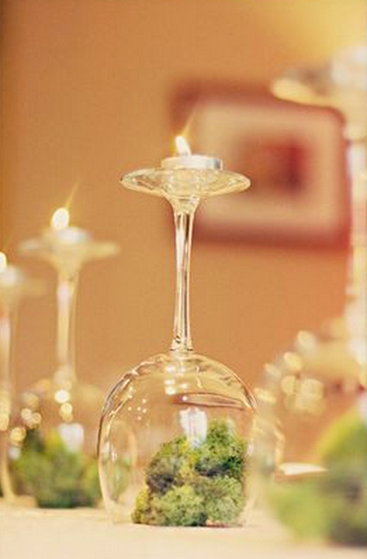 Wine glass centerpiece kristen lunceford for Centerpieces made with wine glasses