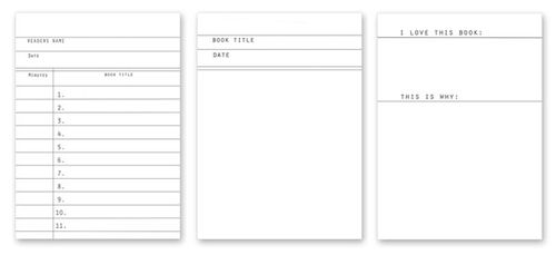 Summer reading logs kristen lunceford for Summer reading log template