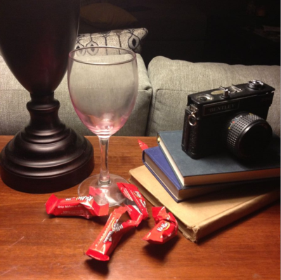wine and kit kats