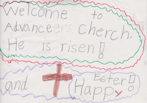 advance church first easter sign