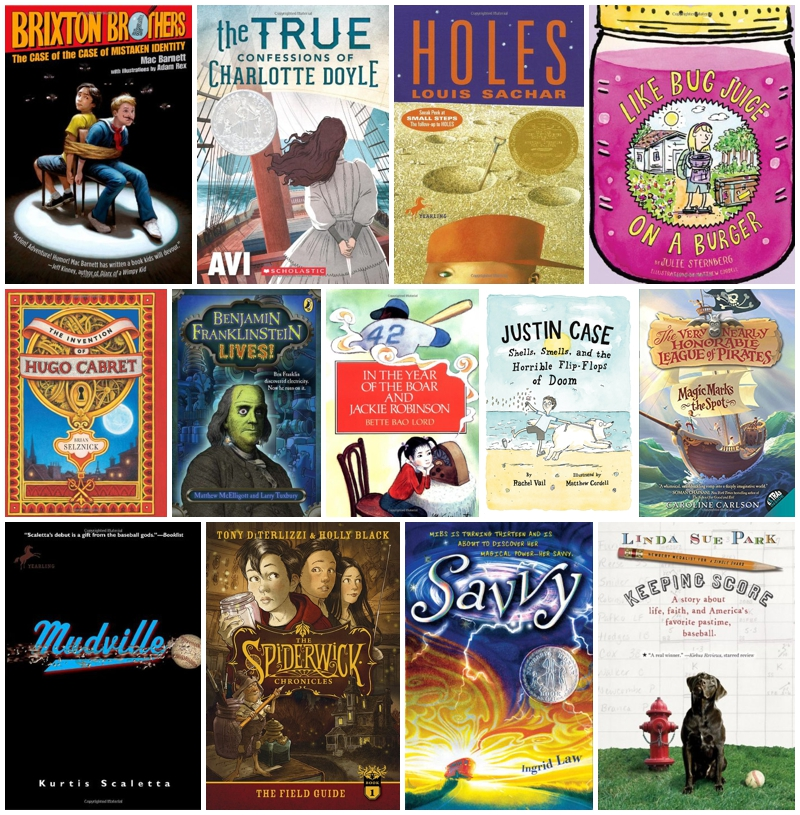Summer reading list for entering fourth and fifth grade boys